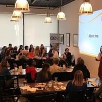Speaking to a great group of women at AAP