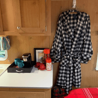 Two flannel robes