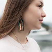 Abalone & Copper Earrings