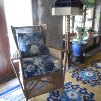 Henry Ford Estate, Sun Room renovation.  Historically accurate restoration with Leslie Curtis Designs custom wicker.