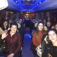 Group two on the coach from Seville to their accommodation