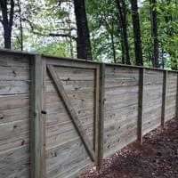 Horizontal Plank Fence