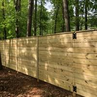 Custom Horizontal Wood Fence