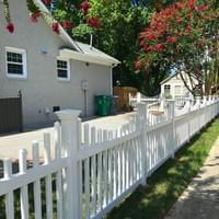 White Vinyl Picket Fence