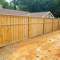 Traditional Wood Privacy Fence