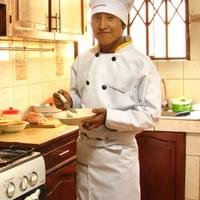 Lucio trained to be a chef