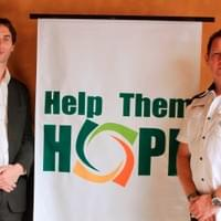 HOPE Founder, John Whelan with HOPE supporter, Jamie Tunstall