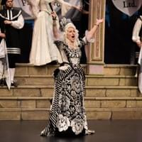 As the Duchess of Plaza Toro in The Gondoliers
