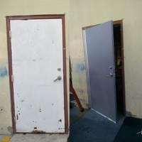 Steel Door Replacement-Continuous Hinges