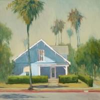 Blue House on Garfield Avenue 24 x 24