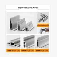 Fabric light box aluminium frame profile,h aluminium profile,aluminium profile system