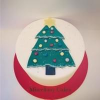 Twinkly Christmas Tree Cake