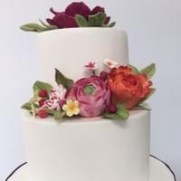 Colourful Christening Cake