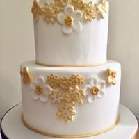 Gold Bas Relief Cake