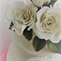 Winter White Rose Cake