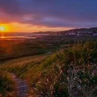 Woolacombe sunset from Potters Hill