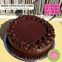 "Dark Chocolate Cake (7"", 8"", 9.5"")"