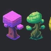 Personal work- Shape based trees concept