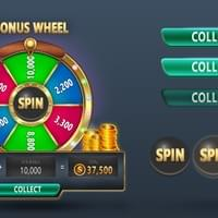 Mobile casino app: Wheel of prizes+Button states