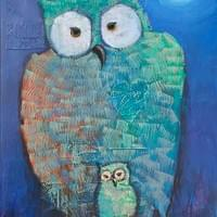 Owl and Owllet /SOLD
