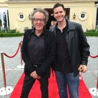 Sam Sokolow and Geoffrey Rush on GENIUS: Einstein red carpet