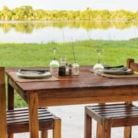 Have a meal on the banks of the Kafue River