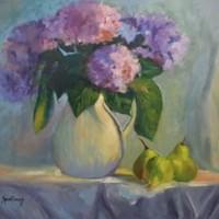 Hydrangeas and Pears