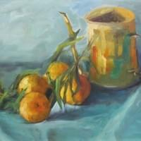 Oranges And Watering Can
