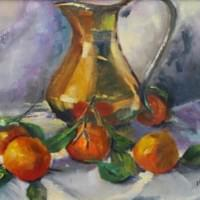 Oranges and Gold Pitcher