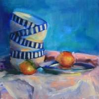 Striped Bowls and Lemon