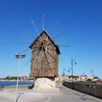 Nessebar's windmill. The symbol of the city.