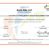 National Minority Business Enterprise Certificate