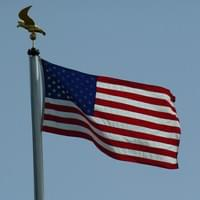 Flag at the US cemetary of Saint-Avold
