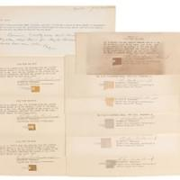 "Price $12 000 - $ 15 000 . Wernher von Braun's Set of (9) Apollo 11 Flown Film Fragments. Collection of nine flown photographic film fragments carried on the Apollo 11 mission, each thin slice measuring approximately .75″ long, all affixed to explanatory sheets signed by Supervisory Aerospace Technologist Richard W. Underwood. Underwood's presentation certificates indicate that the film ""was carried to the surface of the moon by astronauts Neil A. Armstrong and Edwin E. Aldrin in the Lunar Module 'Eagle' on July 20–21, 1969. The film is Eastman Kodak Type 3400, Panatomic-X."" Includes the original envelope that contained these sheets with a typed memo to ""Dr. Rees"" by Wernher von Braun's longtime assistant Bonnie Holmes, ""Dick Underwood from MSC, Houston, gave Dr. von Braun a stack of these Apollo 11 mementos. We have given a few out, sent some to Washington for him to use there, and here are extras."" In overall fine condition, with an irregular block of toning to one sheet. These Apollo 11 mementos were given to von Braun and when he left the Marshall Spaceflight Center in February 1970, his successor handed them off to Bonnie Holmes."