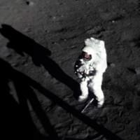 VERY RARE photo of Neil ARMSTRONG on the moon