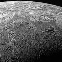 Enceladus on November 21, 2009, approximately 2,028 km away