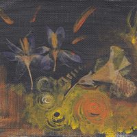 **SOLD** - untitled dark crocus painting