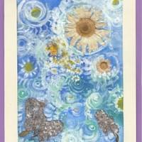 **SOLD** - untitled blue daisy painting