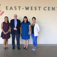 With the US Ambassador to Mongolia Michael Klecheski in Honolulu Headquarter. from Left: Enkhmaa (GDF), Uyanga (GDF), Tsolmontuya (ADB-JSP)