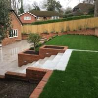 A terraced garden in Chalfont heights