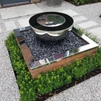 A David Harber water feature in Winchmore  Hill