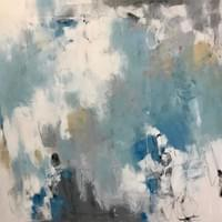 "Shades of the Sea - 48""x48"""