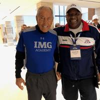 Marvin and Nick Bollettieri (Nick is creator of the tennis academy concept, the Nick Bollettieri Tennis Academy, now the IMG Academy)