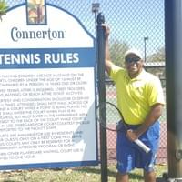 Marvin at this tennis courts in Connerton community in Land O Lakes, FL