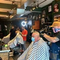 The BlackBear Barbershop in Downtown Gloucester.