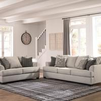 Ashley Velletri Pewter Sofa and Loveseat (79604)