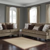 Ashley Braemar Brown Sofa and Loveseat (40901)