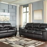 Ashley Brazoria Black Sofa and Loveseat (24702)