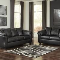 Ashley Betrillo Black Sofa and Loveseat (40502)