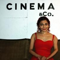 Amy at 'Cinema & Co' in Swansea during a Valentines Day event she organised & hosted!